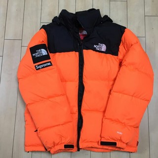 シュプリーム(Supreme)のSupreme the north face nuptse orange(ダウンジャケット)