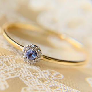 LAZY SUSAN - k10 レイジースーザン タンザナイト ダイヤモンド イエローゴールドリング