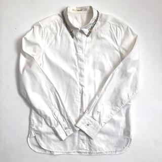 MACPHEE - MACPHEE マカフィー ビジューシャツ ドレスシャツ