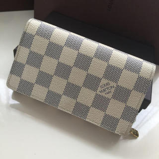 LOUIS VUITTON - 正規品ルイヴィトンアズールL字ファスナー 折財布