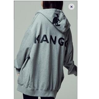 カンゴール(KANGOL)の新品タグ付き カンゴール バックプリントロゴジップパーカー ウィメンズ  L(パーカー)
