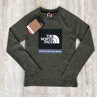 THE NORTH FACE - 【海外限定】TNF ザ  ノースフェイス  ボックスロゴ ロンT 130cm
