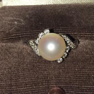 ミキモト(MIKIMOTO)のミキモト 御木本 パールダイヤモンドリング  アコヤ真珠8.5㎜ 8号(リング(指輪))