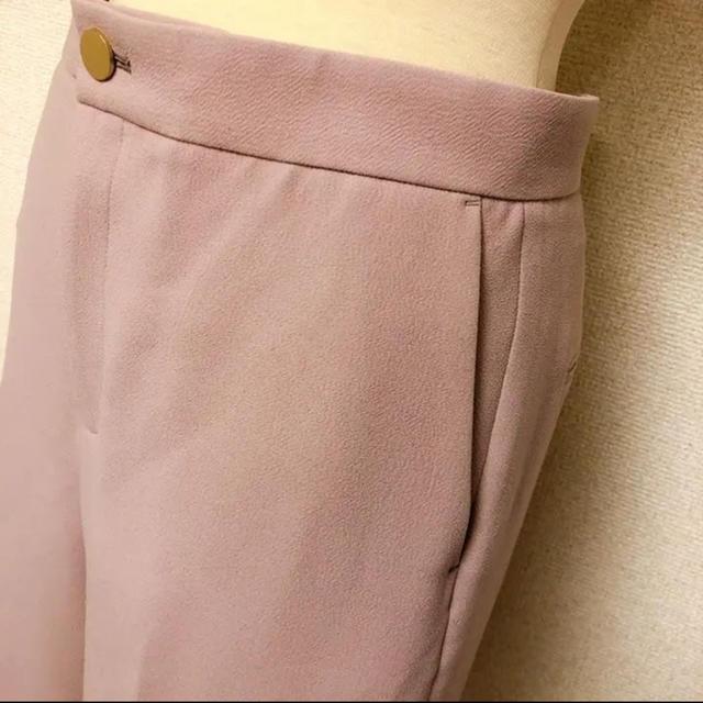 ESTNATION(エストネーション)の美品 エストネーション 美脚 パンツ センタープレス ピンク M レディースのパンツ(クロップドパンツ)の商品写真
