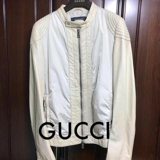 グッチ(Gucci)のGUCCI レザージャケット ラム革 白(レザージャケット)