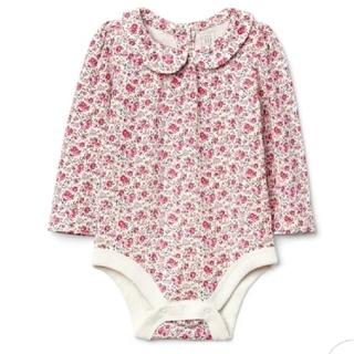 ベビーギャップ(babyGAP)の☆babyGAP 襟つき 長袖ロンパース フローラル花柄☆(ロンパース)