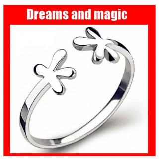 シルバーリング 指環 ミッキー好きな女の子に かわいい925スターリングシルバー(リング(指輪))