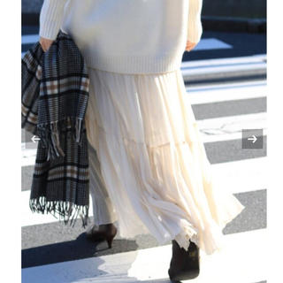 IENA - 【新品タグ付】IENA ジョーゼットプリーツティアードスカート