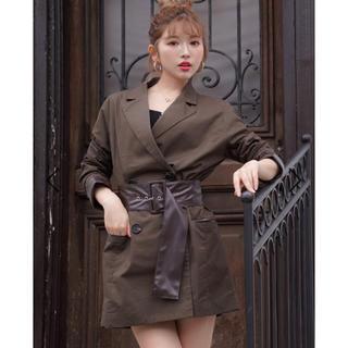 eimy istoire - レザーポイントジャケット、スカート