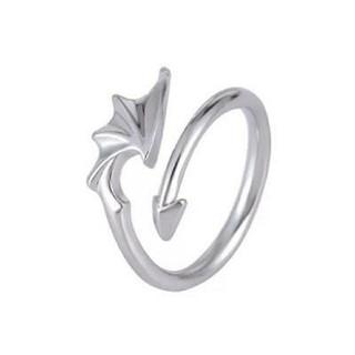 フリーサイズ 悪魔 デビル リング 指輪(リング(指輪))