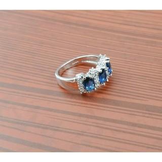 ブルーサファイア ダイヤモンドリング 11号(リング(指輪))