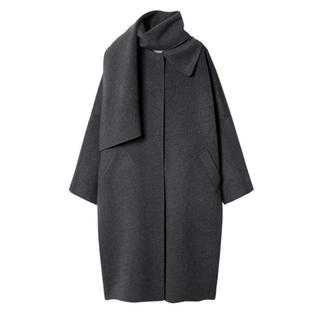 ルシェルブルー(LE CIEL BLEU)の2019wf 今期 ルシェルブルー コート グレー 36(ロングコート)