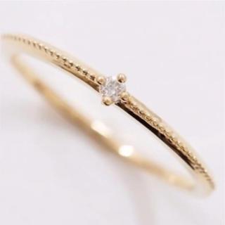 エテ(ete)のete  k10   ダイヤモンドリング 0.01ct  YG 7号(リング(指輪))