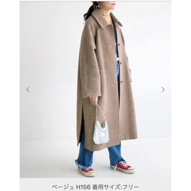 IENA SLOBE(イエナスローブ)のSLOBE citron.  チェックステンコート IENA レディースのジャケット/アウター(ロングコート)の商品写真