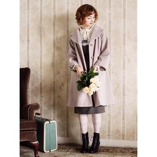 アンアナザーアンジェラス(an another angelus)のan3♡ローズ釦カラーコート(gray)(ロングコート)