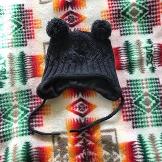 エイチアンドエム(H&M)のベビー 耳付きニット帽(帽子)