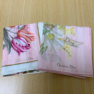 クリスチャンディオール(Christian Dior)のタグナシ未使用 ディオール大判ハンカチ2枚セット(ハンカチ)