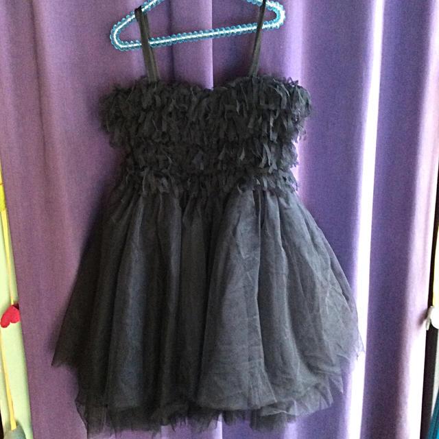 repetto(レペット)のチュールドレス ブラック キッズ/ベビー/マタニティのキッズ服女の子用(90cm~)(ドレス/フォーマル)の商品写真