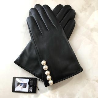 バーニーズニューヨーク(BARNEYS NEW YORK)の手袋 グローブ 本革 レディース パール ヨーコチャン FOXEY(手袋)
