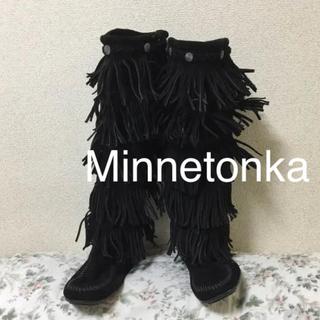 ミネトンカ(Minnetonka)の#ミネトンカブーツ★ブラック★フリンジブーツ(ブーツ)