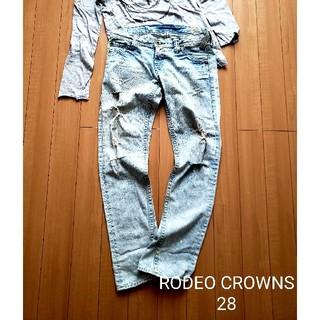 ロデオクラウンズ(RODEO CROWNS)のRODEO CROWNS ダメージデニム ペイント 28(デニム/ジーンズ)