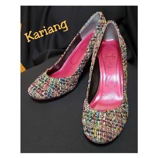 カリアング(kariang)のKariang カラフルツイードパンプス(ハイヒール/パンプス)