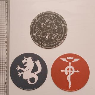 鋼の錬金術師 コースター3枚セット(キャラクターグッズ)