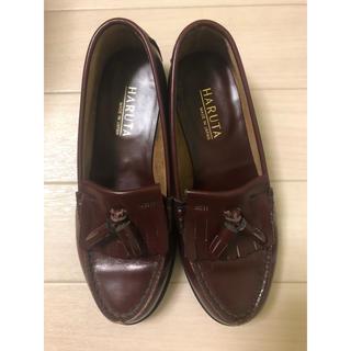 ハルタ(HARUTA)のHARUTA タッセルローファー 23.5cm 茶色(ローファー/革靴)