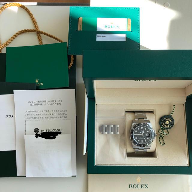 ウブロ アウトレット - ROLEX - ROLEX ロレックス サブマリーナデイト 116610LNの通販 by m350's shop