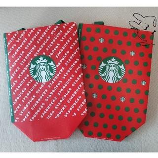 Starbucks Coffee - 韓国スタバ★ ホリデー エコバッグ・2柄セット