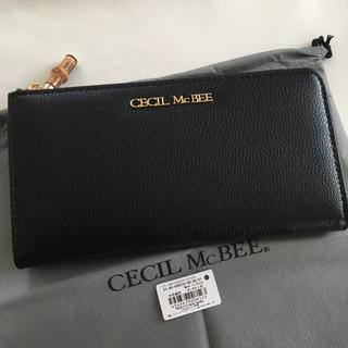 セシルマクビー(CECIL McBEE)の新品 セシルマクビー L字ファスナー 長財布 ウォレット ブラック 黒(財布)