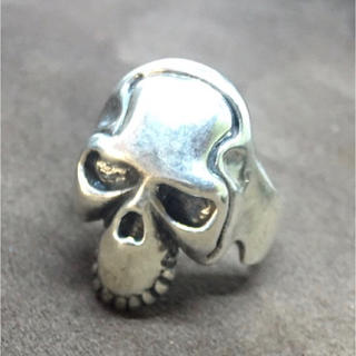 スカル ドクロ 髑髏 ガイコツ 骸骨 シルバー925 リング  23号 銀指輪(リング(指輪))