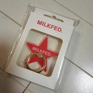 MILKFED. - ミルクフェド スマホリング レッド