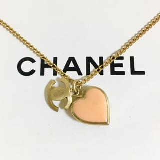CHANEL - 正規品 シャネル ネックレス ハート ココマーク 金 ゴールド リバーシブル