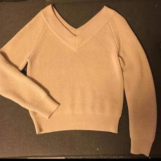 DOUBLE STANDARD CLOTHING - ダブスタ 前後Vネックセーター