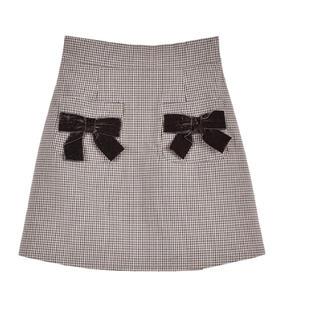 evelyn - ポケットビッグリボンスカート