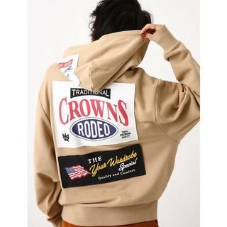 RODEO CROWNS - ロデオクラウンズ ロゴパーカーベージュ