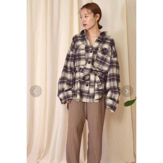 ダブルクローゼット(w closet)のw closet 起毛ビックシャツ アウター(シャツ/ブラウス(長袖/七分))