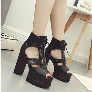 ブーツ サンダル ブラック(ブーツ)