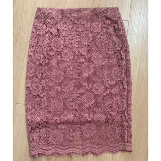 GU - GU レースタイトスカート くすみピンク L 人気色