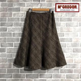 マックレガー(McGREGOR)のMcGREGOR ツィード スカート(ひざ丈スカート)
