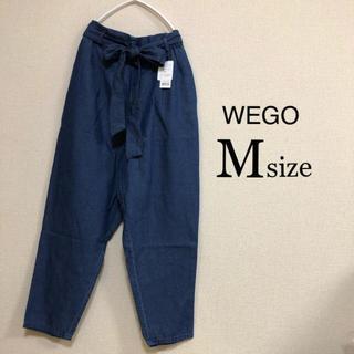 ウィゴー(WEGO)のMサイズ WEGO ⭐️新品⭐️ リボンアンクルテーパードパンツ ブルー(カジュアルパンツ)