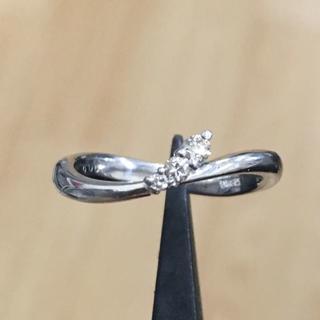 K18WG ダイヤモンド 計0.06ct リング (リング(指輪))