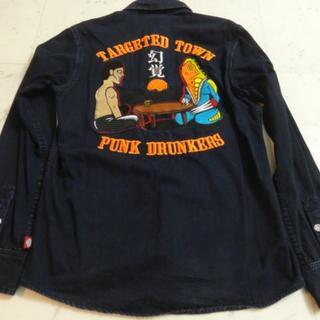 パンクドランカーズ(PUNK DRUNKERS)の【希少】パンクドランカーズ メトロン星人 デニムシャツ Mサイズ(Gジャン/デニムジャケット)