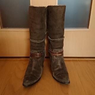 elegance卑弥呼 - elegance卑弥呼 モスグリーン 24.5cm スエード ロングブーツ