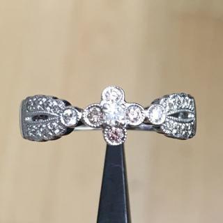 750K18 ライトピンクダイヤ 計0.07ct ダイヤモンド 計0.10ct (リング(指輪))