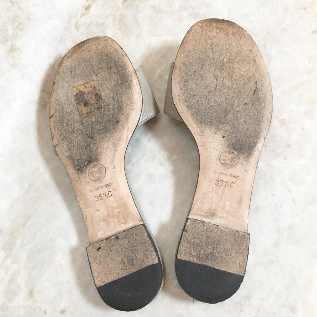 CHANEL(シャネル)の正規品 シャネル サンダル レザー ココマーク シルバー ラインストーン 靴 革 レディースの靴/シューズ(サンダル)の商品写真