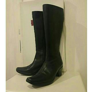 ベルメゾン(ベルメゾン)のベネビス ストレッチロングブーツ(黒)22.5(ブーツ)