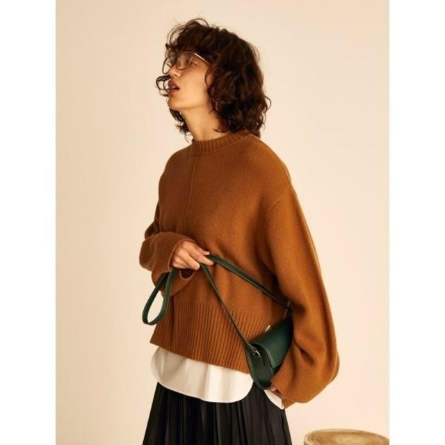 Mila Owen(ミラオーウェン)のミラオーウェン☆シャツドッキングデザインニット レディースのトップス(ニット/セーター)の商品写真