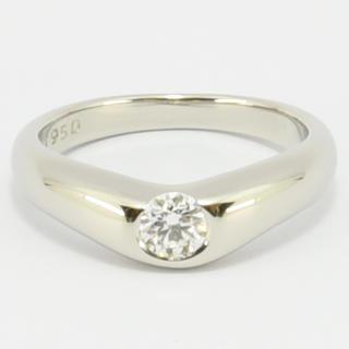 ティファニー(Tiffany & Co.)のティファニー リング カーブドバンドリング  1P PT950 約5.5号(リング(指輪))